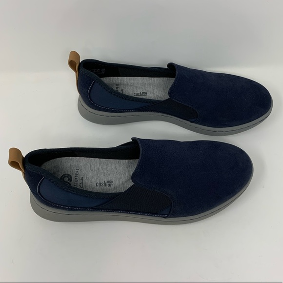 Clarks Navy Blue Cloud Steppers Step Move Fly Lace-up Sneakers New